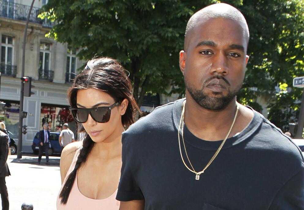 NULL KONTAKT: Etter at Kim Kardashian og Kanye West tok ut skilsmisse og ble enige om delt omsorg for barna, skal eksparet ha kuttet kontakten med hverandre fullstendig. Her er de avbildet i Paris i 2014. Foto: Beretta/ Sims/ Rex/ NTB