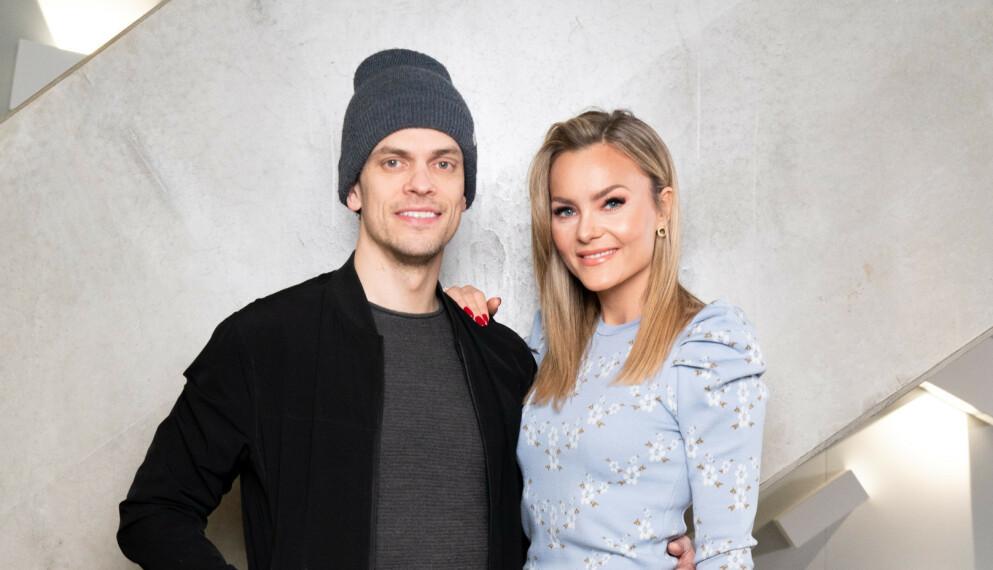 NYTT FAMILIEMEDLEM: Caroline Berg Eriksen og ektemannen Lars-Kristian Eriksen ser frem til å snart få en liten valp inn i familien. Foto: Espen Solli / TV 2