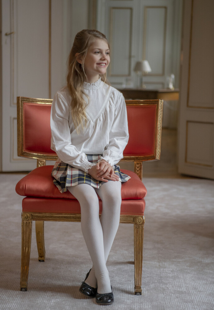 TRONARVING: Prinsesse Estelle er nummer to i arvefølgen til den svenske tronen. Foto: Kate Gabor / Det svenske hoffet