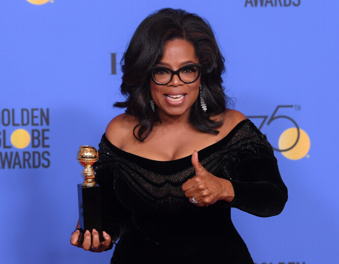 ANERKJENT: Oprah Winfrey har blitt tildelt en rekke titler og priser for sitt arbeid. Nå skal hun intervjue prins Harry og hertuginne Meghan. Foto: David Fisher/ REX/ NTB
