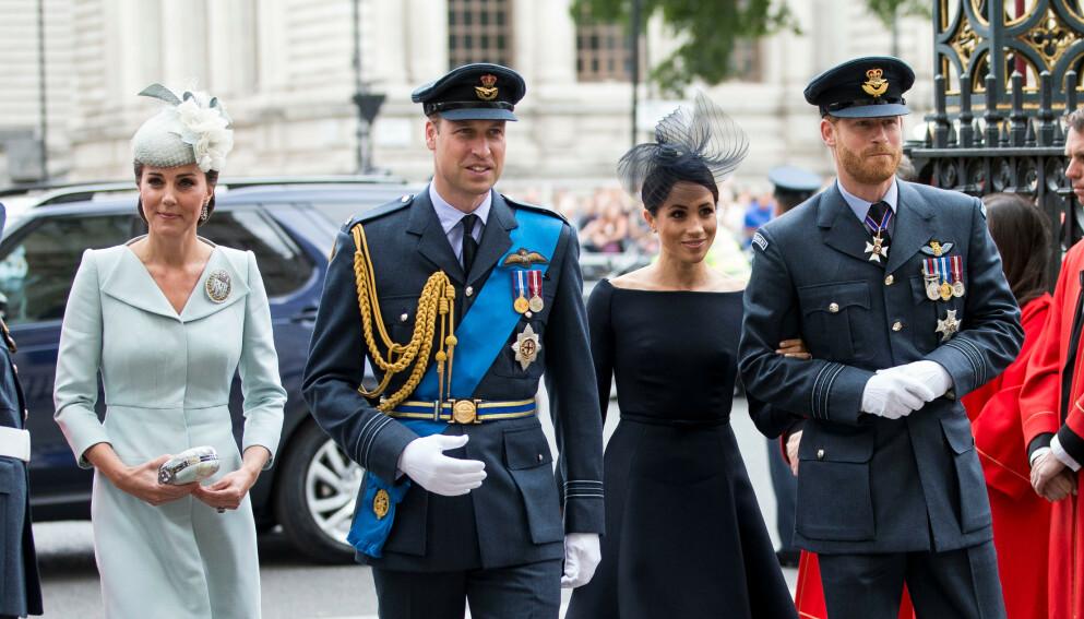 NY ISFRONT?: Prins William og Hertuginne Kate skal trolig ikke være fornøyd med prins Harry og hertuginne Meghans seneste avgjørelser. Foto: David Hartley/ REX/ NTB