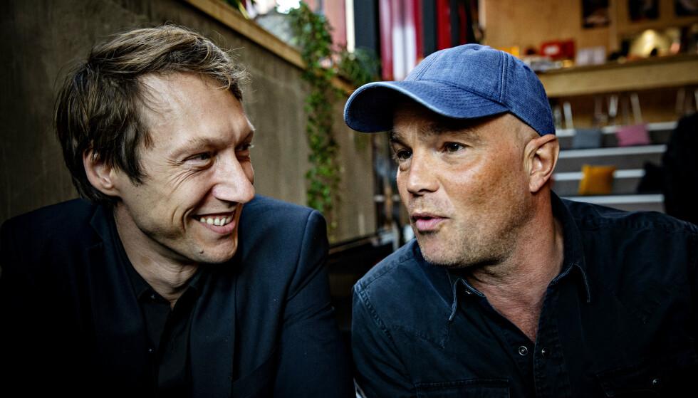 GRISEGUTTER: Adam J. Berger og Jon Øigardens karakterer i «Exit» er glad i cola og prostituerte. Foto: Nina Hansen / Dagbladet
