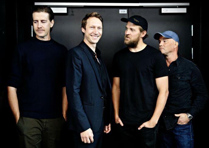 TILBAKE: Pål Sverre Hagen, Simon J. Berger, Tobias Santelmann og Jon Øigarden er tilbake i sesong to av «Exit». Foto: Nina Hansen / Dagbladet