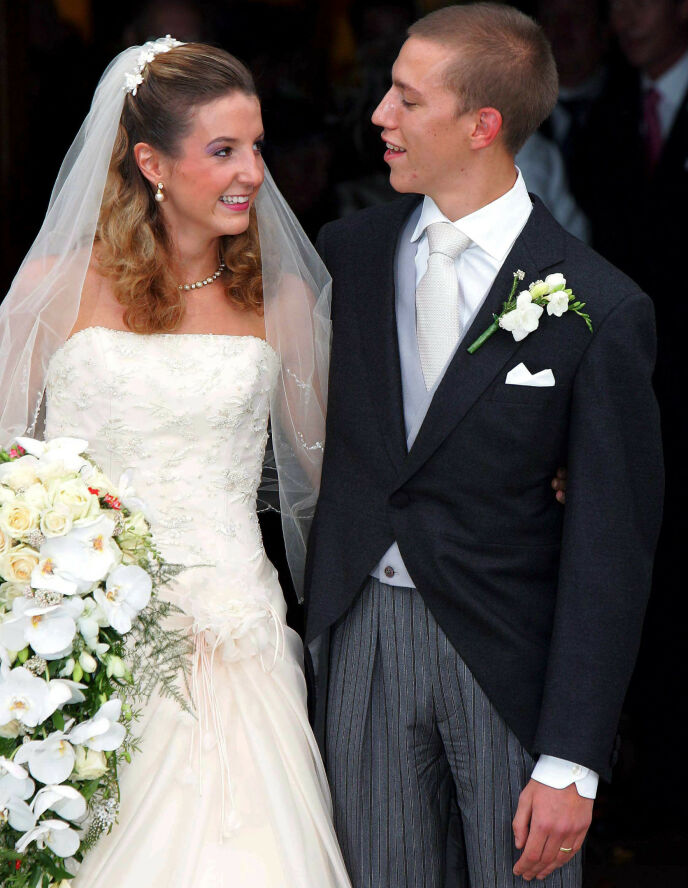 DEN GANG DA: Tessy og prins Louis avbildet på bryllupsdagen sin i 2006. Foto: Frank Rollitz/ REX/ NTB