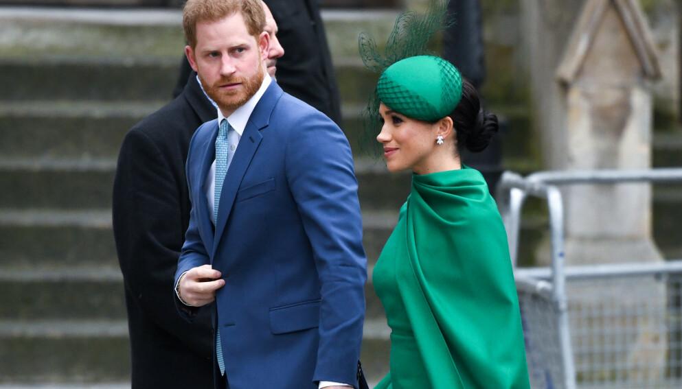 ÅPEN: I et nytt intervju forteller prins Harry at britisk presse har vært både giftig og ødeleggende. Her sammen med hertuginne Meghan i 2020. Foto: Doug Peters/ EMPICS/ NTB
