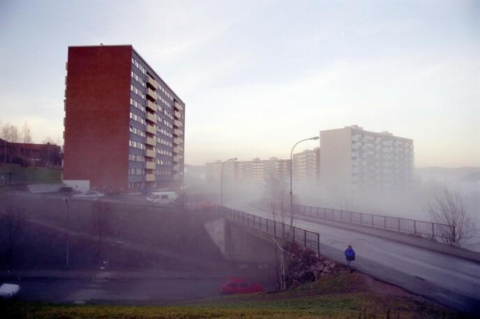SISTE OBSERVASJON: Det var her i bydelen Fjell i Drammen at Therese bodde. Det var også her hun sist ble sett, etter å ha kjøpt godterier. Foto: Espen Solli