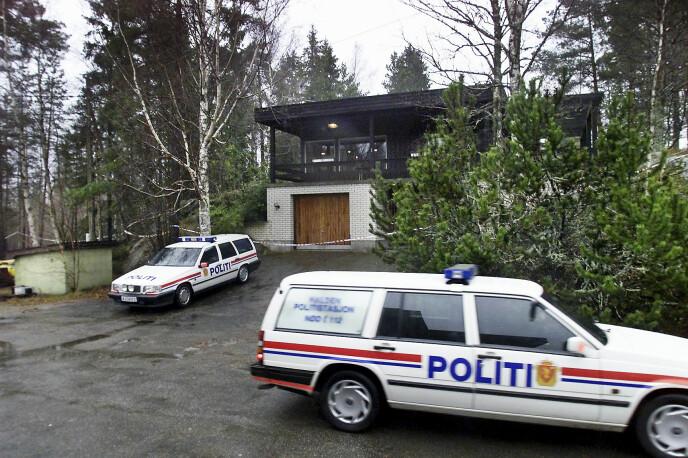ÅSTEDET: I huset sitt, bare 50 meter unna bensinstasjonen, ble Marit brutalt drept med et økseskaft. Hun ble funnet blodig på kjøkkengulvet. FOTO: NTB