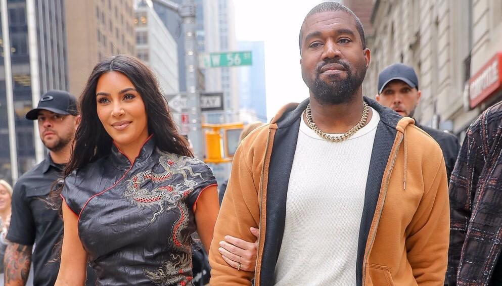 SKILLES: I februar ble det kjent at Kim Kardashian og Kanye West skiller seg. Foto: Felipe Ramales/ Splash News/ NTB