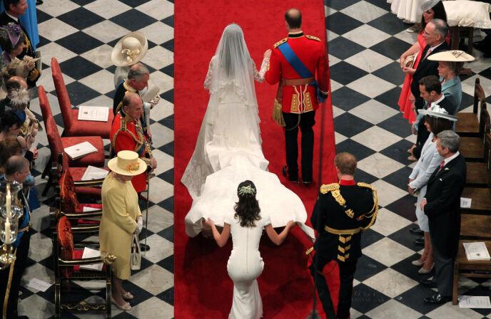 DEN GANG DA: Pippa Middleton ble uventet verdenskjent da hun stilte som brudepike i bryllupet til Kate og William i april 2011. Foto: REX/ NTB