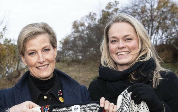 EKSPERT: Se og Hørs kongehusekspert, Caroline Vagle (t.h). Her sammen med prinsesse Sophie, hertuginne av Wessex. Foto: Andreas Fadum / Se og Hør