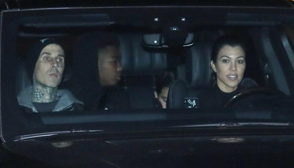 FORELSKET: Travis Barker og Kourtney Kardashian er et av Hollywoods heteste par for tiden. Foto: Ngre Apex / Backgrid USA / NTB