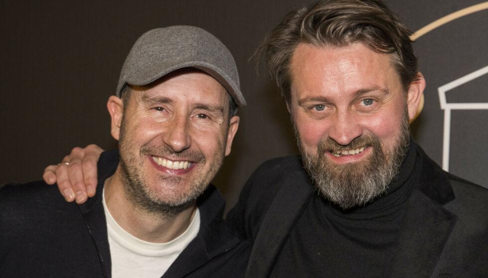 SAMMEN IGJEN: For tre år siden tok de farvel med TV-titterne. Nå er Thomas Numme (t.h.) og Harald Rønneberg klare for podkast-verden. Foto: Terje Pedersen / NTB