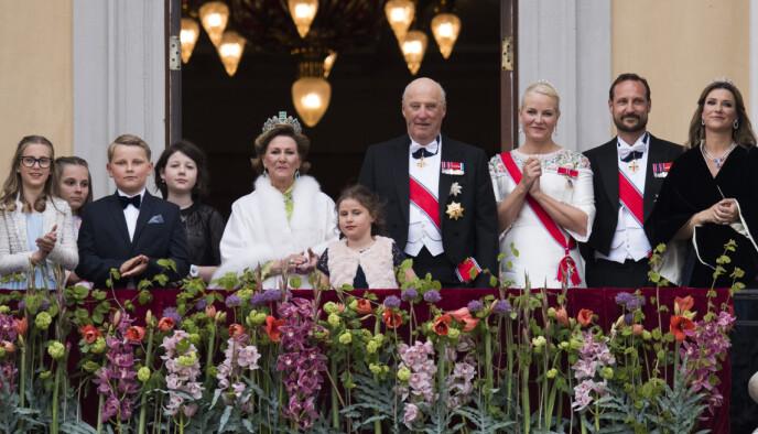 FEIRING: Kongeparet inviterte til stor feiring i mai 2017, i anledning deres 80-årsdager. Foto: Jon Olav Nesvold / NTB
