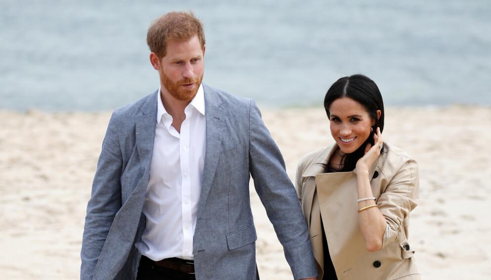 FIKK IKKE BETALT: Prins Harry og hertuginne Meghans intervju skal ha kostet mange millioner. Duoen skal imidlertid ikke ha fått betalt. Foto: Phil Nobel / Reuters / NTB