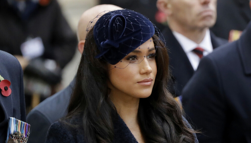 ØDELAGT: Hertuginne Meghan skal ha vært svært trist da hun hadde sin siste dag som en del av det britiske kongehus. Foto: Matt Dunham / AP Photo / NTB