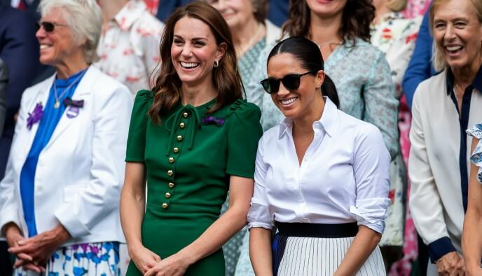SVIGERSØSTERE: Hertuginne Kate og hertuginne Meghan. Foto: NTB
