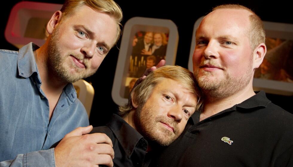 SLUTTER: Tore Sagen, Bjarte Tjøstheim og Steinar Sagen, også kjent som «Radioresepsjonen»-gutta, slutter i NRK. Foto: Håkon Mosvold Larsen / NTB