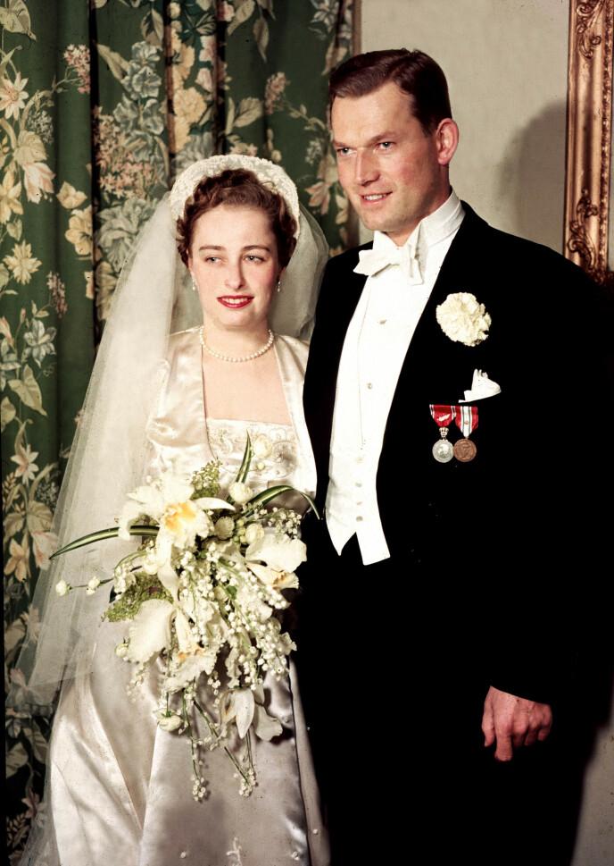 GIFTET SEG: I 1953 giftet prinsesse Ragnhild seg med Erling Lorentzen. Foto: NTB