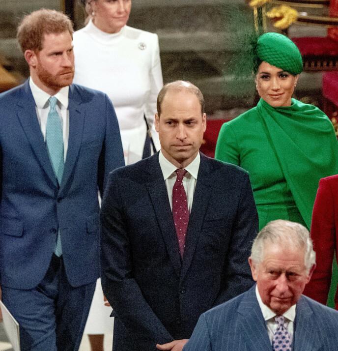 - ØDELAGT: Prins William skal ikke ha likt anklagene prins Harry rettet mot ham under Winfrey-intervjuet. Her er prinsebrødrene avbildet i 2020. Foto: Phil Harris / Pool / NTB