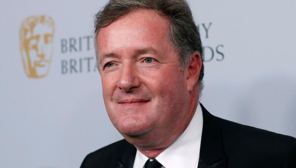 OVER OG UT: Piers Morgan slutter som programleder etter alt bråket. Foto: Mario Anzuoni / Reuters / NTB