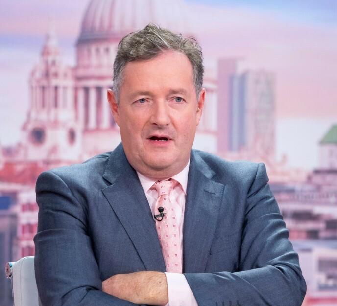 - NIFST OG RART: TV-vert Piers Morgan var ikke særlig begeistret over synet av Brooklyn Beckhams nye tatovering til ære for forloveden Nicola Peltz. Foto: Ken McKay / ITV / Shutterstock