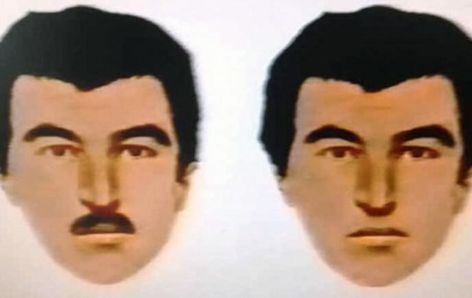 MENTE HAN LIGNET TRAVOLTA: Etter mordet sendte politiet ut en fantomtegning av gjerningsmannen. Men det var ikke signalementet som ledet til at Travolta-fantasten James Warnock etter 34 år ble tatt. Foto: Rex/NTB
