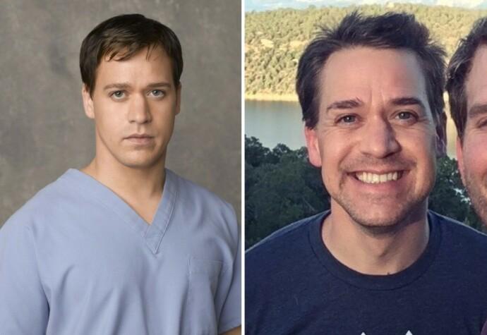 FØR OG NÅ: T. R. Knight i 2005 til venstre og i 2020 til høyre. Foto: NTB