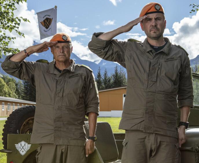 STAUTE KARER: Dag Otto Lauritzen og Kristian Ødegård sender deltakerne inn i flere kraftanstrengelser, men mener sikkerheten alltid er på topp. Foto: Matti Bernitz /TV 2