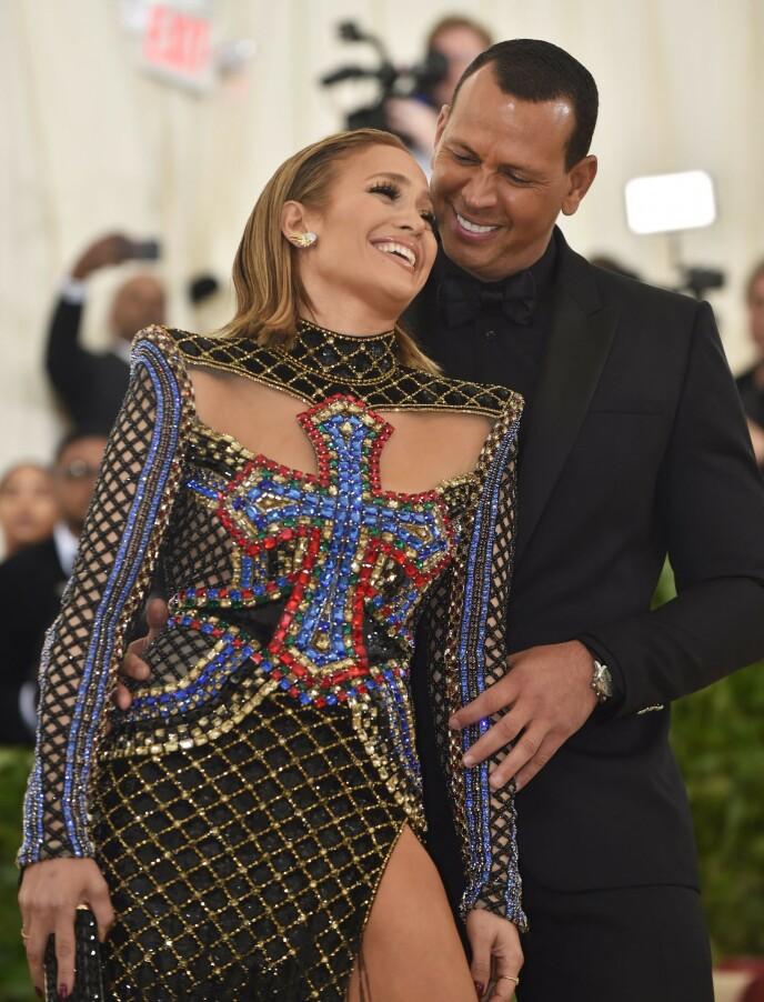 FORTSATT SAMMEN: Jennifer Lopez og Alex Rodriguez er fortsatt et par. Foto: AFP / NTB