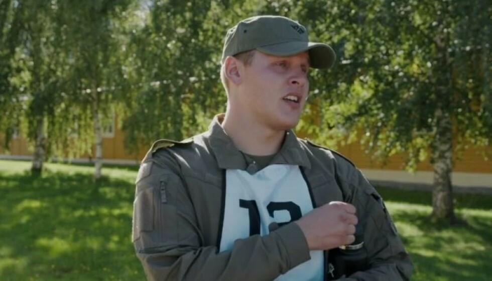 VILLE HJEM: Kun etter to timer i leiren ville Vegard Harm bare forlate stedet. Foto: TV 2