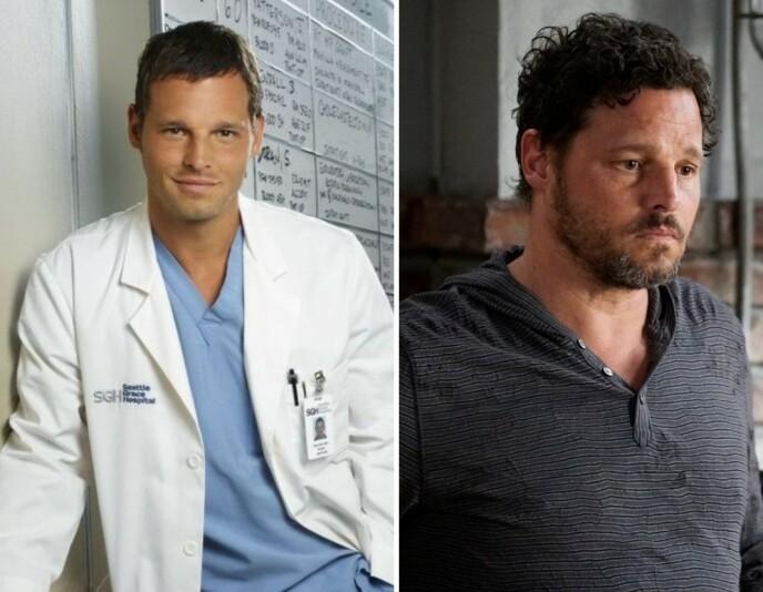 FØR OG NÅ: Justin Chambers i 2005 til venstre og i 2019 til høyre. Foto: NTB