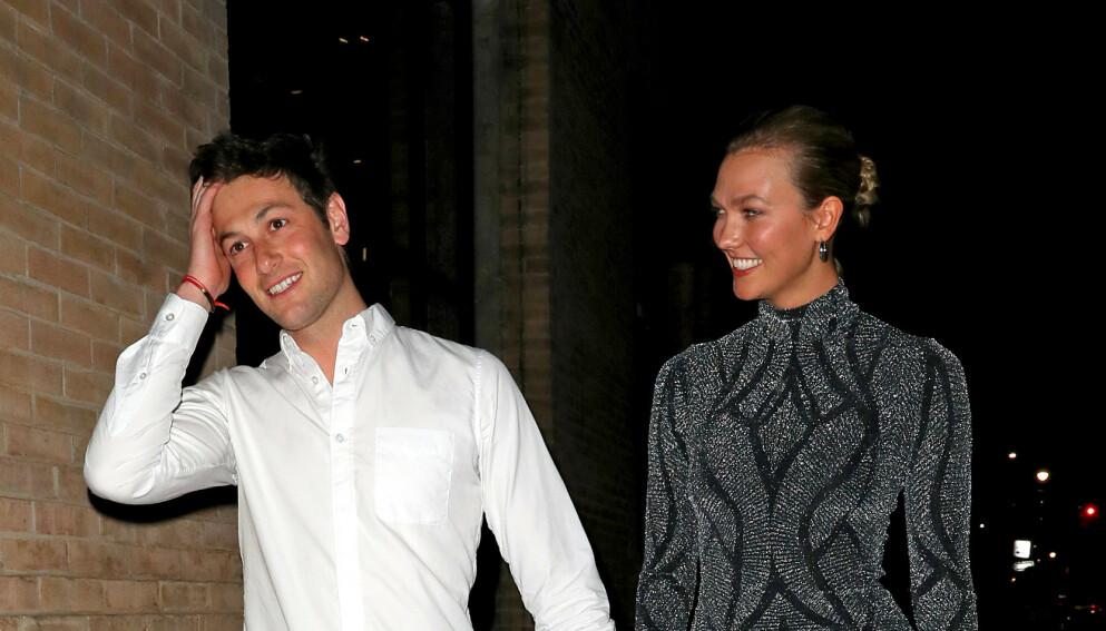 BABYLYKKE: Joshua Kushner og Karlie Kloss har fått sitt første barn sammen. Foto: SplashNews / NTB