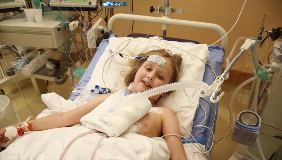 TAPPER: Isabell Gulbrandsen har en sjelden genfeil som ødela hjertet hennes. Hun fikk nytt hjerte, men ble senere rammet av kreft. I dag er hun heldigvis frisk! Foto: Privat