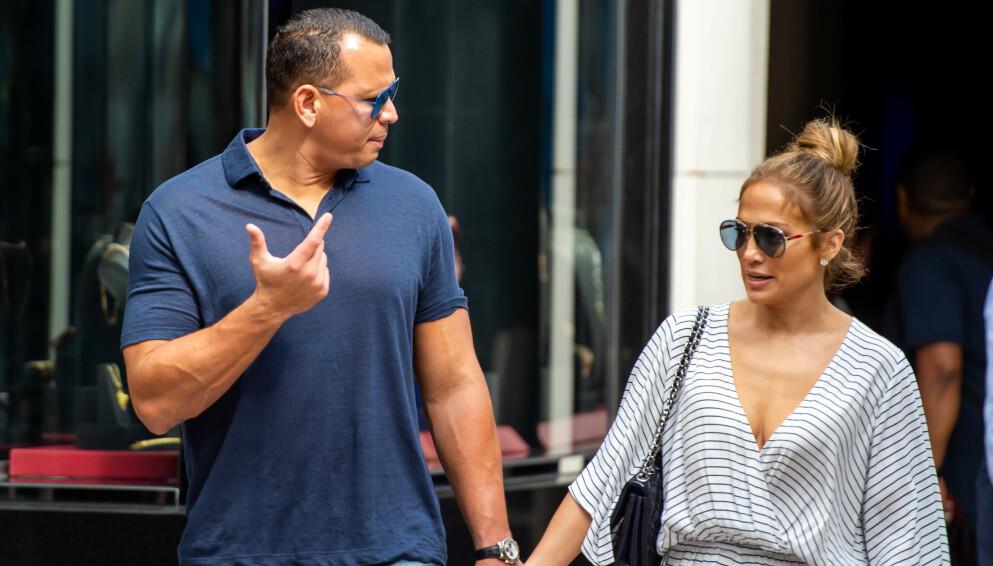 TURBULENT: I helgen avviste Alex Rodriguez og Jennifer Lopez at de har gått hver til sitt. Flere kilder hevder imidlertid at forholdet ikke skal ha vært en dans på roser den siste tiden. Foto: Splash News / NTB