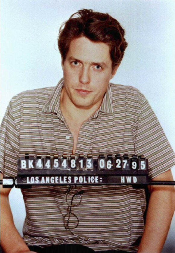 MUGSHOT: Her er skuespilleren avbildet etter at han ble arrestert i 1995. Foto: Los Angeles Police Department / Reuters / NTB
