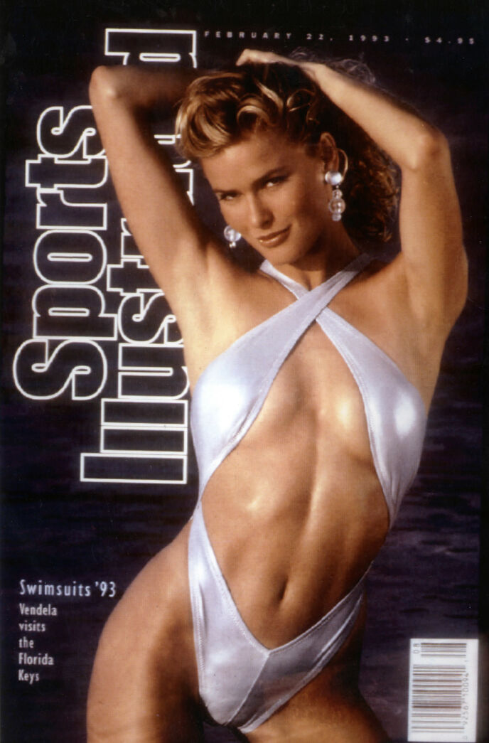 New York, 16.2.1993. Norwegian model Vendela Kirsebom appears on the cover of the Sports Illustrated swinmsuit issue. It is her second appearance in the swimsuit issue and her first on the cover.  Photo: HO/Reuters/SCANPIX