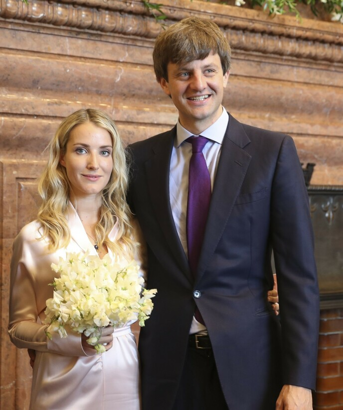 GIFT: Ekteparet giftet seg i juli 2017. Nå venter de sitt tredje barn, ifølge Bunte. Foto: Haz / Rainer Drose / Action Press / Rex / NTB