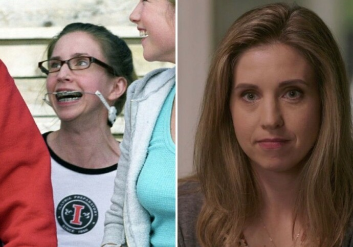DA OG NÅ: Emily Perkins i 2006 til venstre og i 2019 til høyre. FOTO: NTB