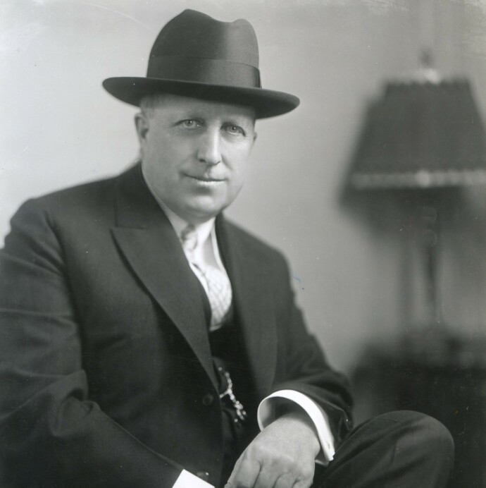 OMSTRIDT:Mediemogulen William Randolph Hearst i 1926. Foto: Nara Archives/REX/NTB