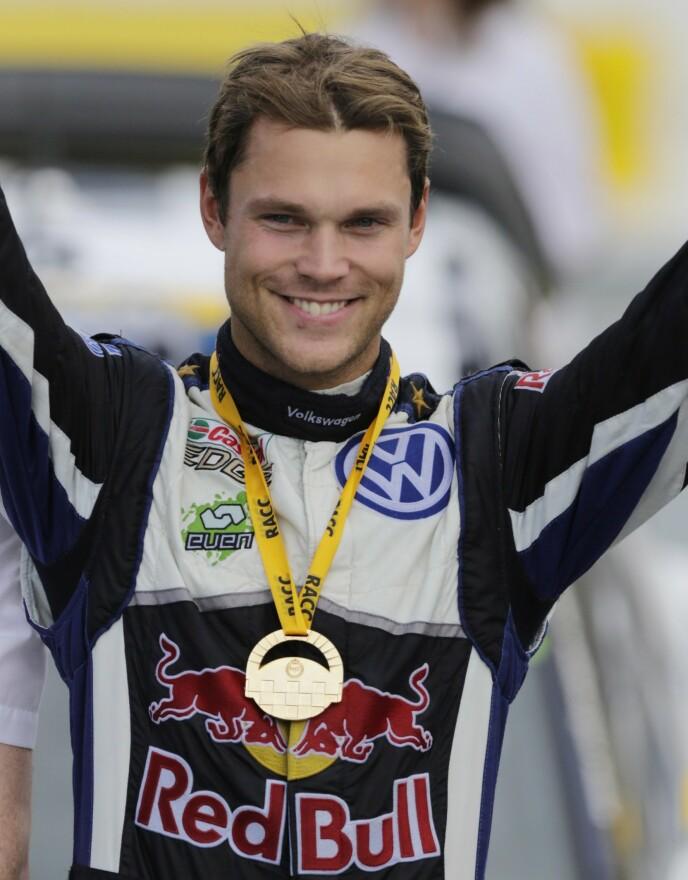 SKULLE DELTATT: Thomas Alsgaard måtte rykke inn for rallyfører Andreas Mikkelsen. Foto: Pau Barrena / AFP