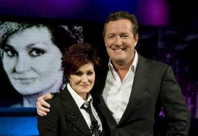GODE VENNER: Sharon Osbourne og Piers Morgan har kjent hverandre i en årrekke. Foto: ITV / REX / NTB