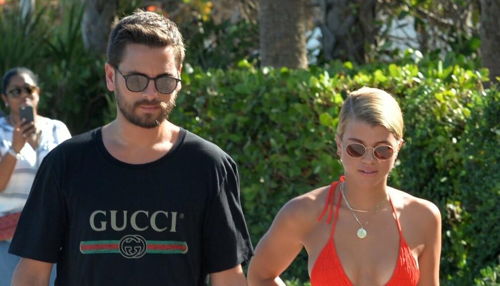 ULTIMATUM: Denne uken avslørte Scott Disick at Sofia Richie ba ham velge mellom henne og Kourtney Kardashian. Sofia skal imidlertid ikke være overrasket over at det ble offentlig informasjon. Foto: Mediapunch/REX/NTB