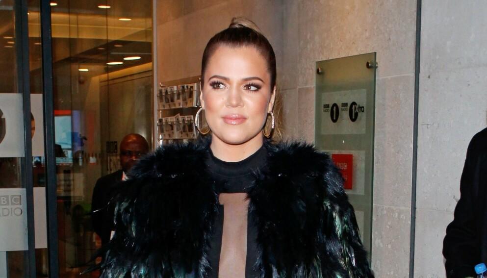 LEI: Khloé Kardashian får stadig kommententarer om utseendet sitt. Nå er hun lei. Foto: Beretta/Sims/REX/NTB