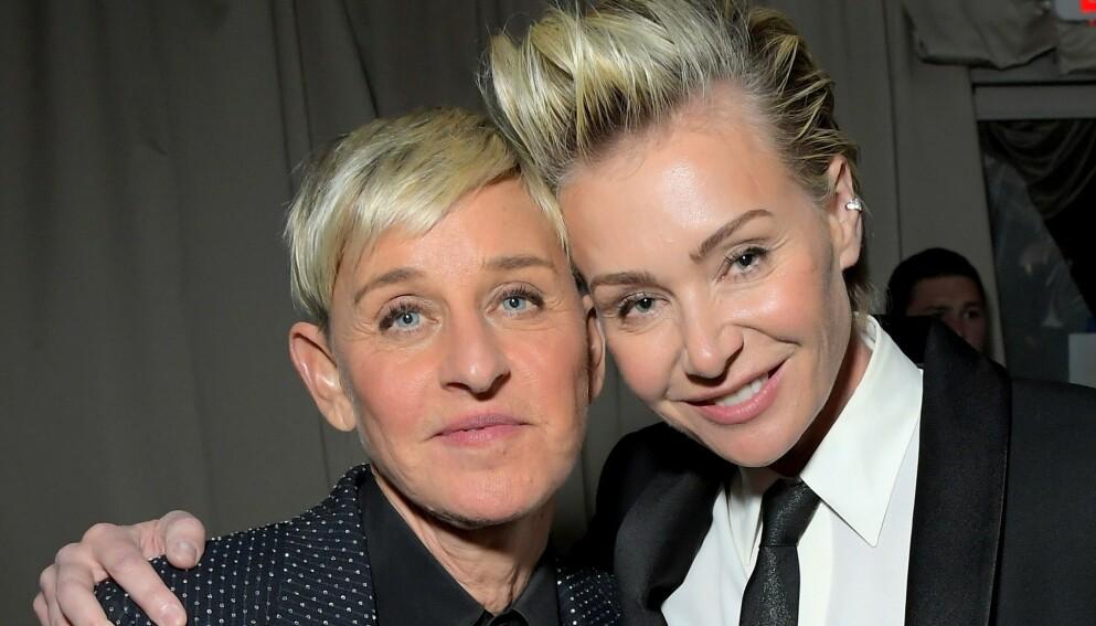 MÅTTE OPERERES: Før helga måtte Ellen DeGeneres frakte kona, Portia de Rossi, til sykehus. Foto: Charley Gallay/Getty Images/NTB