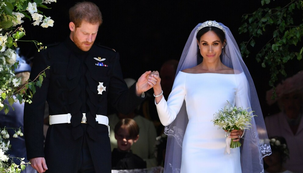 JUKS: Prins Harry og hertuginne Meghan hevdet at de giftet seg allerede tre dager før det kongelige bryllupet. Nå bekrefter imidlertid en talsperson for paret at det ikke stemmer. Foto: Ben Stansall / AFP / NTB