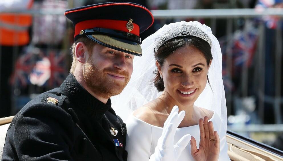 HVIT BRUD: Hele verdens øyne var rettet mot Windsor da prins Harry og hertuginne Meghan giftet seg i mai 2018. Foto: Aaron Chown / AFP / NTB