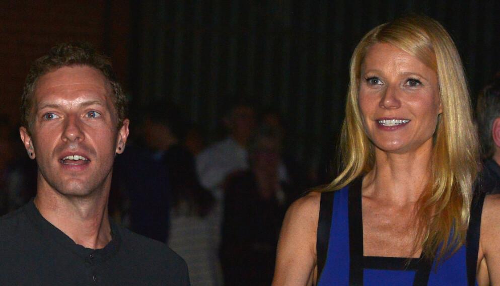BRUDD: Chris Martin og Gwyneth Paltrow skilte lag i 2014. Nå forteller sistnevnte at hun egentlig ikke ville skilles fra Coldplay-profilen. Foto: Charley Gallay / AFP / NTB