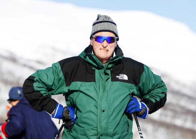 PÅSKEKONGEN: Kong Harald deltok i det tradisjonelle Sikkilsdalsrennet i 2008. Foto: Håkon Mosvold Larsen / NTB