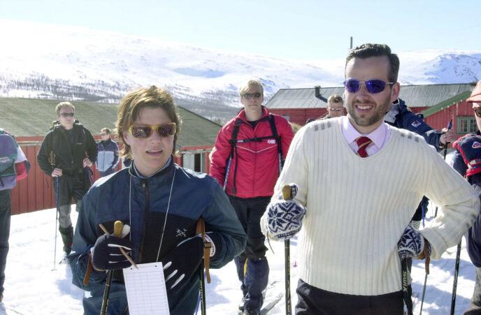 2002: Prinsesse Märtha Louise og Ari Behn påsken for 19 år siden ved Sikkilsdalssetra. Foto: Thomas Bjørnflaten / NTB
