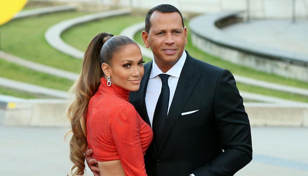 TRØBBEL I PARADIS: Jennifer Lopez og Alex Rodriguez skal angivelig gjøre alt for å bevare forholdet. Foto: Christopher Peterson/ Splash News/ NTB